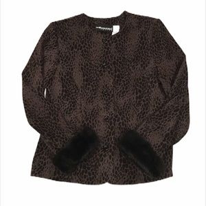 SAG HARBOR Vintage Animal Print Jacket